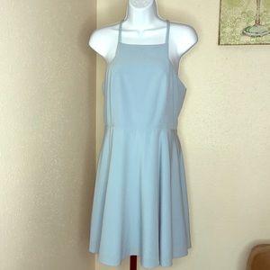 Lulu's periwinkle blue t-back skater dress 8 EuC
